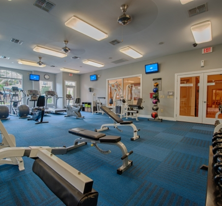 Fitness Center at Camden Oak Crest Apartments in Houston Texas