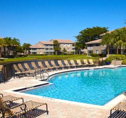 Pool at Camden Portofino Apartments in Pembroke Pines, Florida